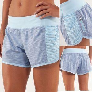 Lululemon Run Bright At Night Shorts Blue Stripe